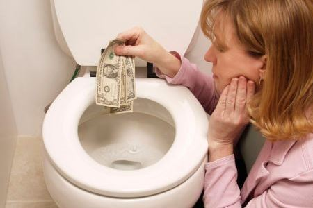 Leaking Toilets Throws Money Down the Drain