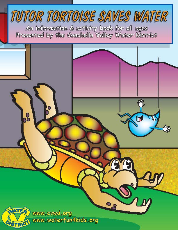 Tutor Saves Water Kids Activity Book Cover