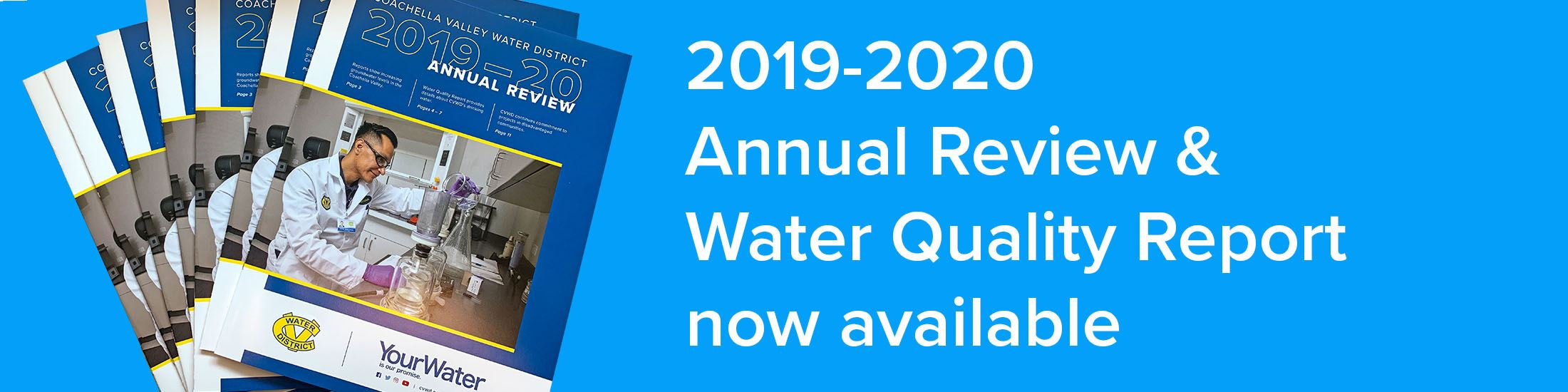 Annual Review & Water Quality report is now available online