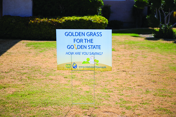 Golden grass yard sign
