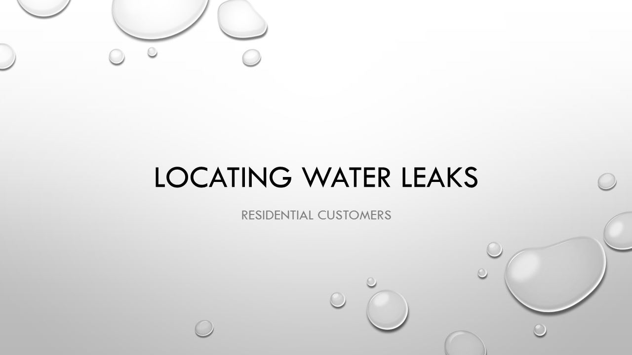 Locating Water Leaks