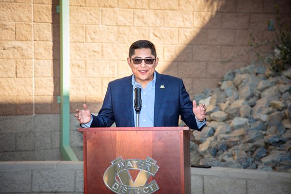 Director Estrada speaks at Open House
