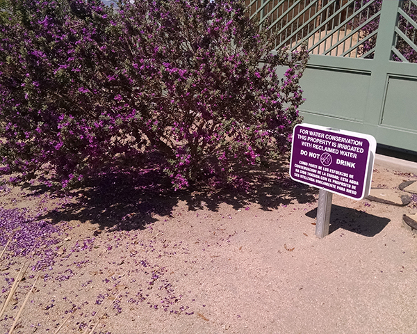Reclaimed water in use