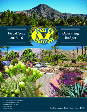 2015-2016 Coachella Valley Water District Operating Budget